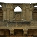 The beautiful balcony on top of Jam Nindo's tomb in Makli, Thatta