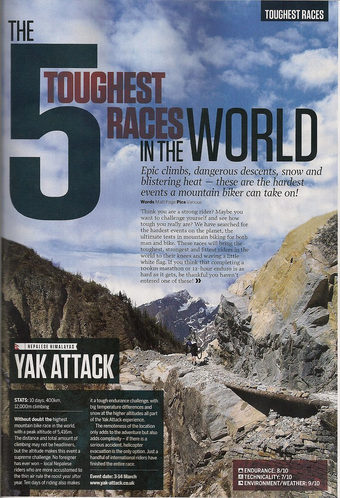 Yak-Attack featured in recent issue of Mountain Bike UK magazine story