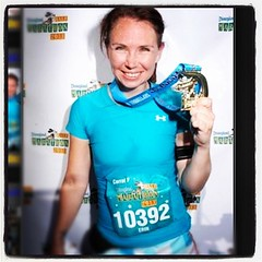 Another thing I bought today - Disney kept bugging me to purchase race photos from September. #janphotoaday Don't mind tired, sweaty me.