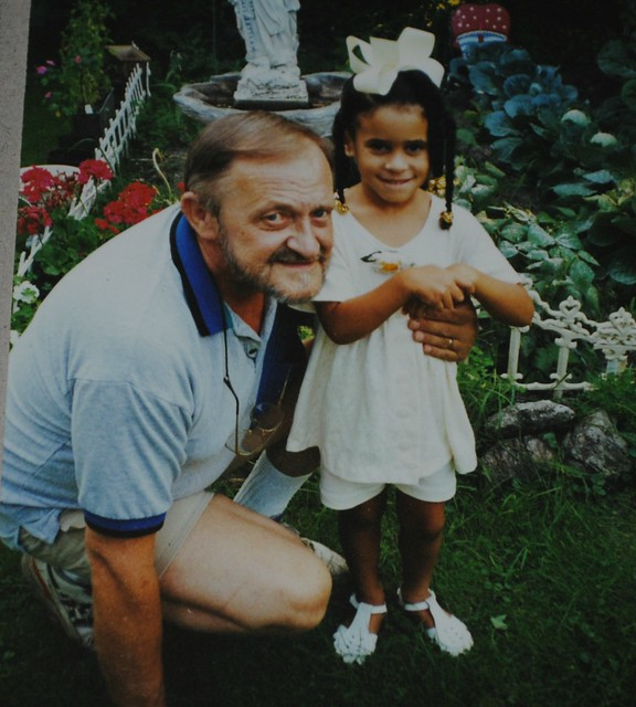 Me as a little girl with my grandfather