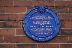 Photo of Grace Darling and P. S. Forfarshire blue plaque