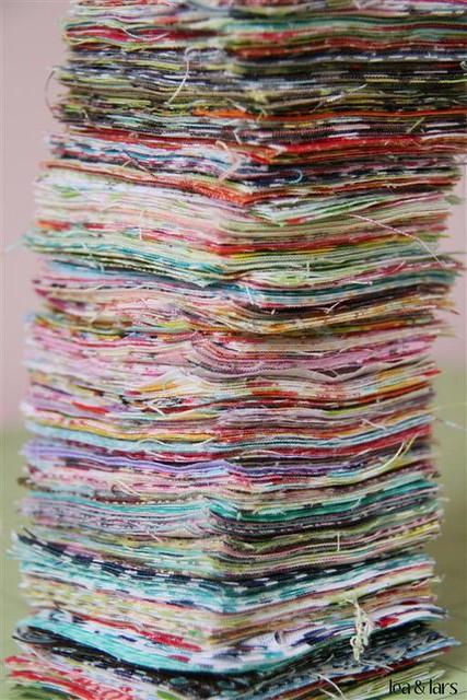 fabric scrap stack