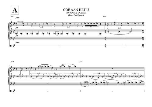 """""""Ode Aan Het IJ"""" (SCORE) page1"""