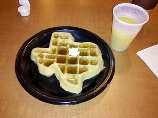 Texas sized, er shaped waffle