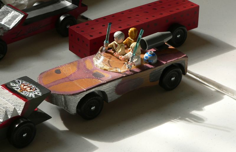judes star wars landspeeder pinewood derby car - Pinewood Derby Car Design Ideas