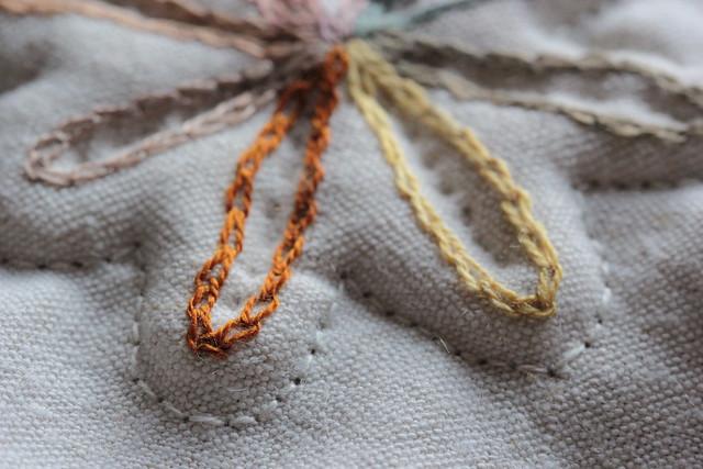 shiny silk thread in the morning sun