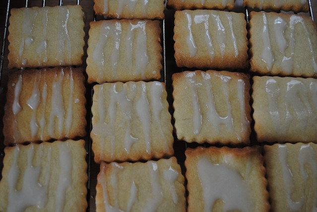 Butter biscuits with icing....mmmm!
