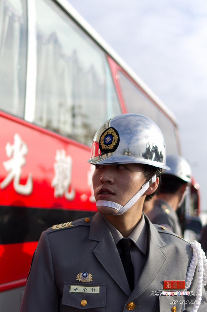 20120123-德陽艦外退儀隊表演