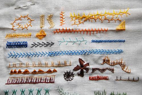 tast 2012 #4: cretan stitch