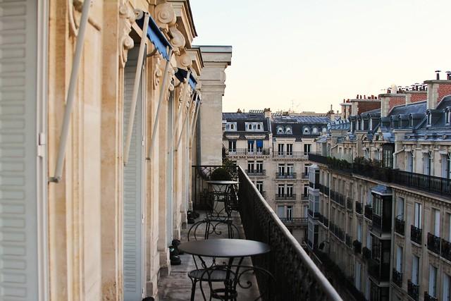La Tremoille Hotel balcony