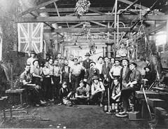 Christmas 1922 in Blacksmith's shop. Perry Engineering