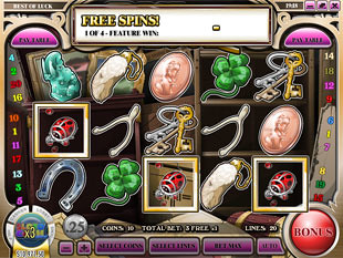 Best of Luck Free Spins