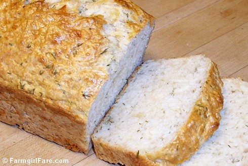 Beyond Easy Cheddar & Dill Beer Bread Recipe - Farmgirl Fare