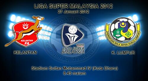 vs Kuala Lumpur | Liga Super Malaysia 2012 | Keputusan Terkini