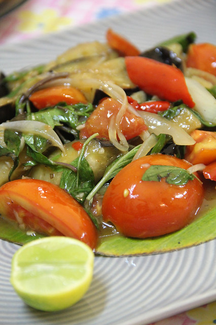 Pad makua muang (stir fried purple eggplant ผัดมะเขือม่วง)
