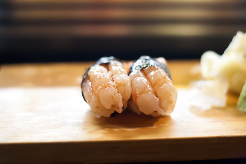 Sweet Shrimp Sushi at Kaito