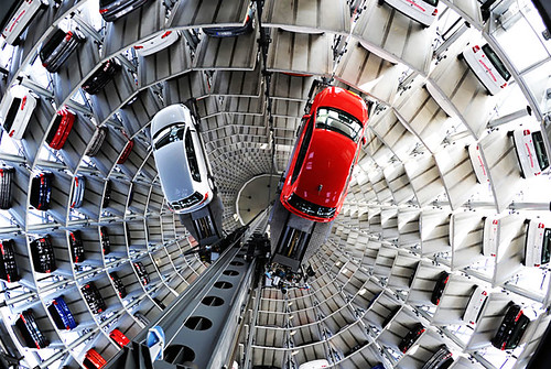 Volkswagen takes to the skies for parking