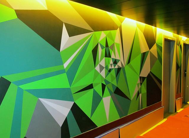 Barcelona Mural Process : Emerald Uncut.