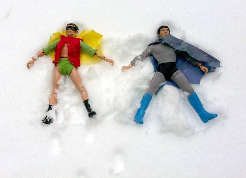 batman&robin holidays (snowangels) by Bieco Blù