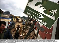 Chile Tsunami Evacuation Sign