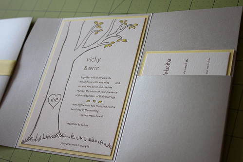 vicky and things DIY Wedding Invitations Tutorial