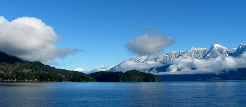 Crossing Howe Sound in the Winter by maplemusketeer