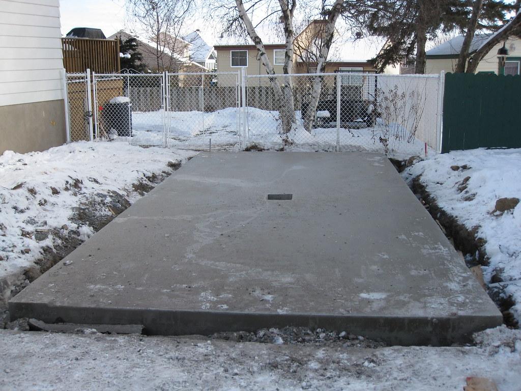 dalle monolitique pour garage - plancher et fondation en béton - Comment Faire Une Dalle De Garage