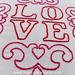 L O V E embroidery pattern