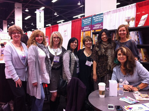 my lovely mixed media author friends at FW media booth