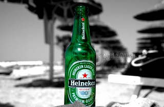 Heineken at the beach.