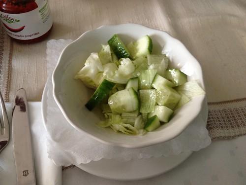 Gurkensalat / Cucumber salad