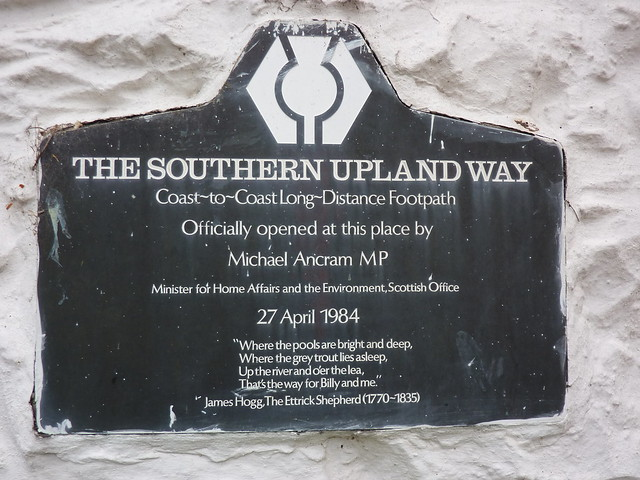 Southern Upland Way Official Opening Plaque