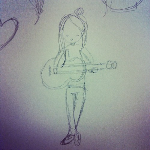 Sketch of Laura Marling.