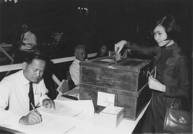 1970 địa điểm bỏ phiếu bầu Thượng Nghị Viện tại Tòa Đô Chánh