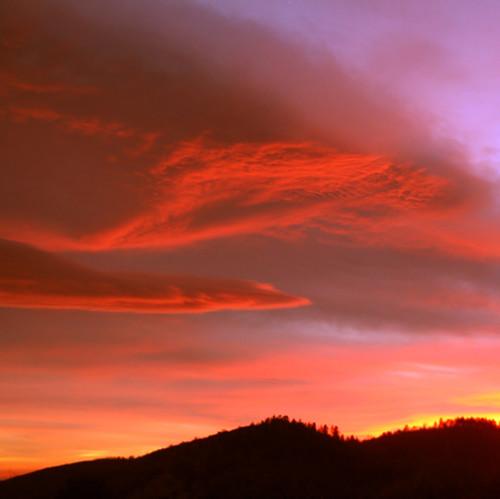 pink sunset sky orange mountains clouds dusk vibrant magic horizon abigfave top20vivid