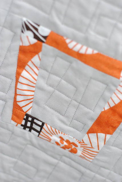 Glass Half Full Quilt - Orange Framed Tumbler