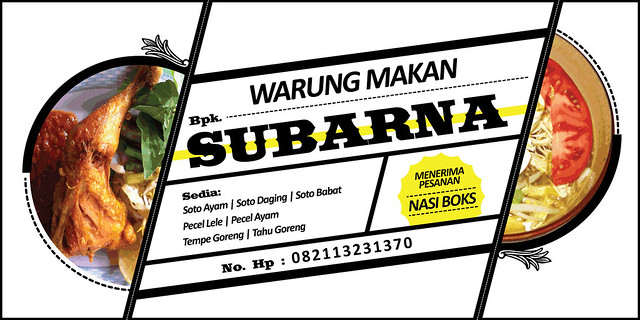 desain spanduk WARUNG MAKAN SUBARNA | Flickr - Photo Sharing!