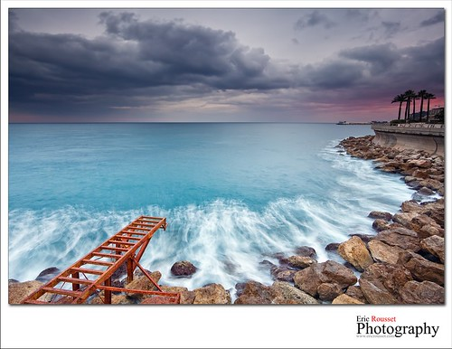 longexposure winter sunset sea mer seascape canon landscape photography coast rocks europe monaco côtedazur reef paysage canonef1740mmf4lusm mediterraneansea 2012 waterscape frenchriviera provencealpescôtedazur leefilter larvotto canoneos5dmarkii ericrousset leendgrad06 leendgrad075