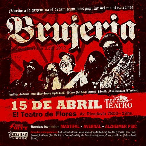 Flyer Brujeria 10x10
