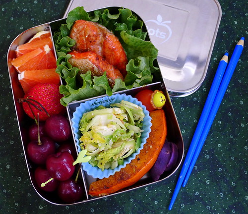Salmon Trio Bento by sherimiya ♥