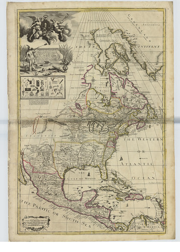 Map of North America by George Willdey , 1715