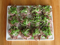 sprinkle of micro arugula