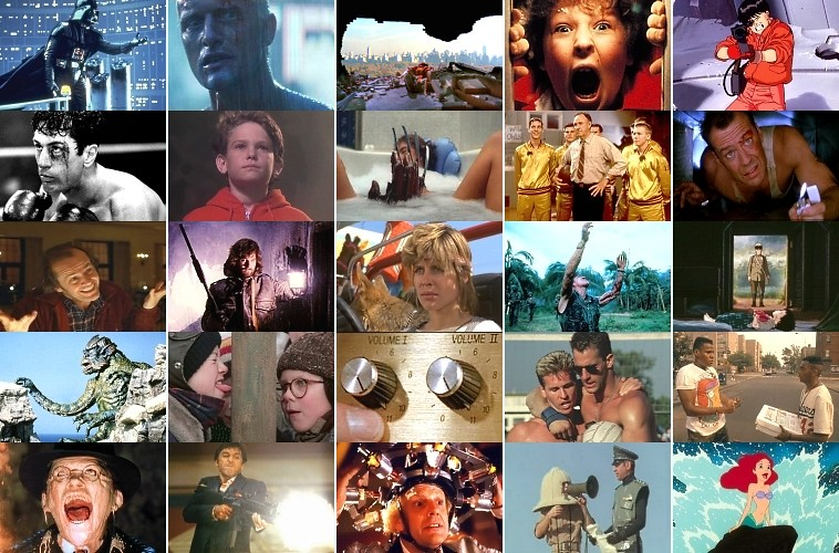 1980s Movies quiz grid