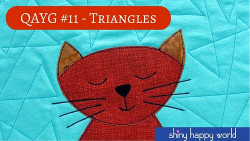 Quilt As You Go tutorial - interlocking triangles