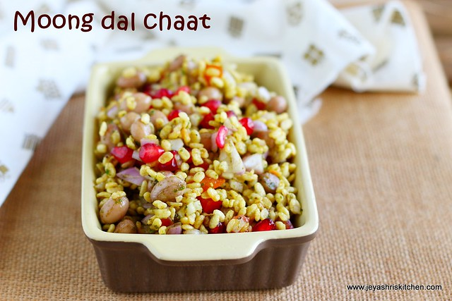 Roasted moong dal chaat