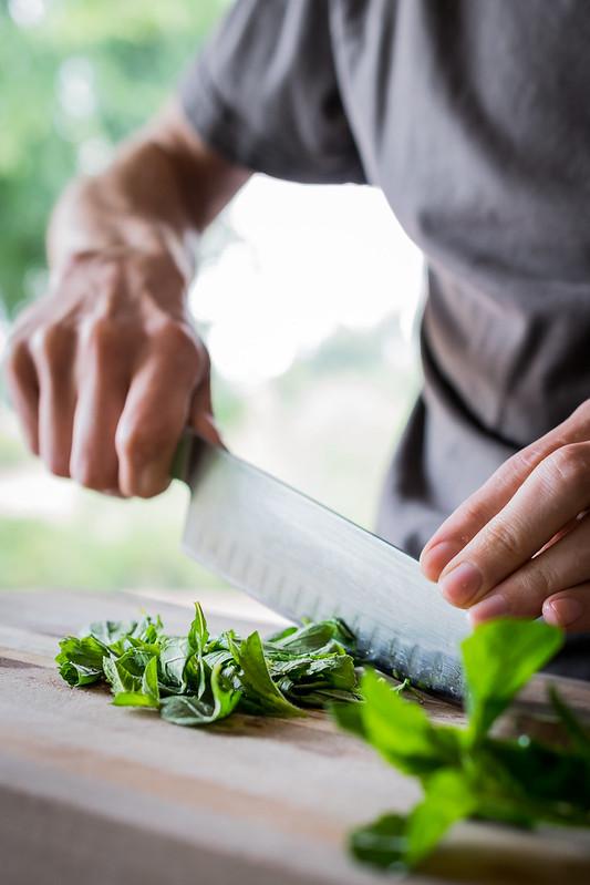 chopping fresh mint smells so good
