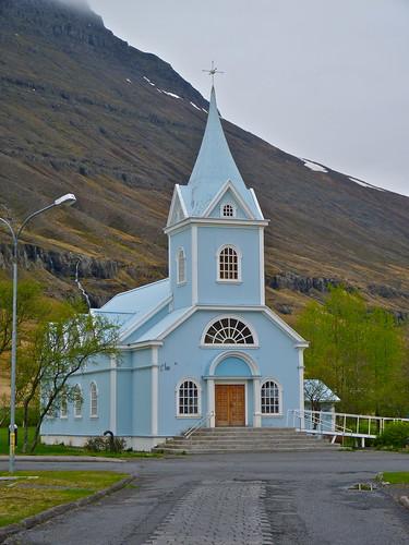 Chiesa blu di Seyðisfjörður