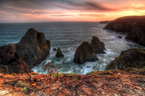 ocean ireland sunset sea irish seascape landscape cork nohovalcove nohavalcove