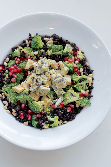 Blue Cheese, Broccoli and Lentils