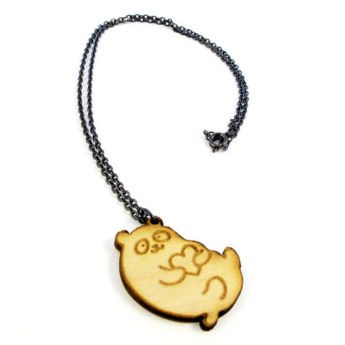 Panda Heart Charm Necklace 4